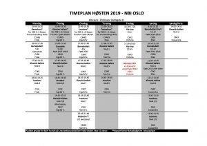 Timeplan danseskole oslo